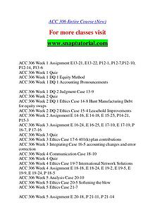 ACC 306 help A Guide to career/Snaptutorial