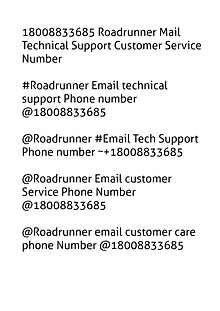 18002520044 Roadrunner Mail Technical Support Customer Service Number