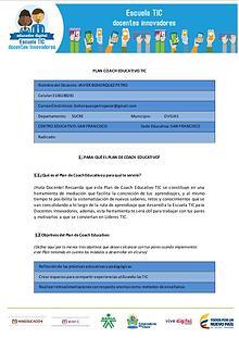 Plan de Coach Educativo TIC entre pares