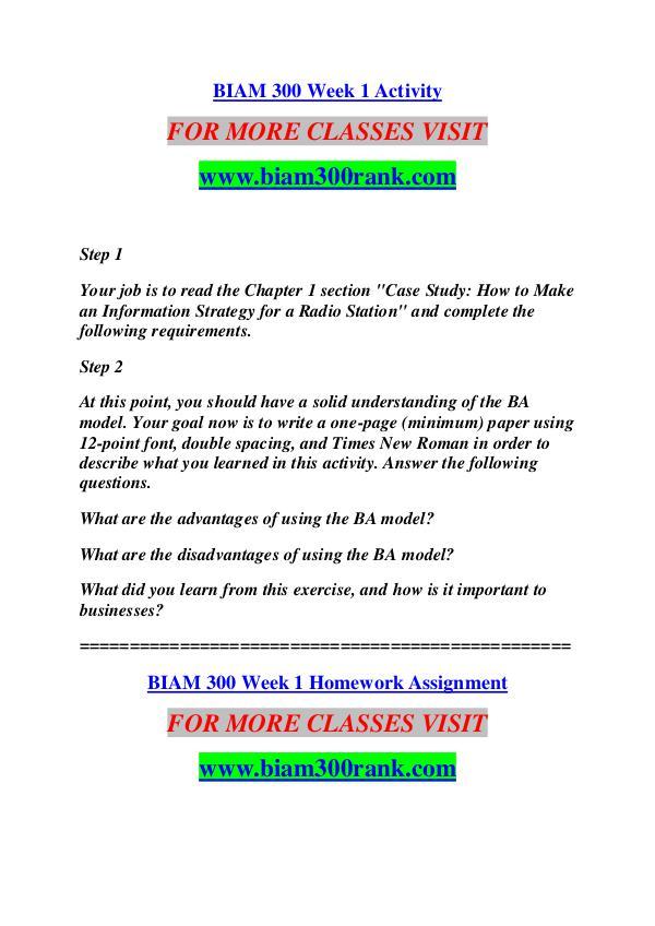 BIAM 300 RANK Keep Learning /biam300rank.com BIAM 300 RANK Keep Learning /biam300rank.com