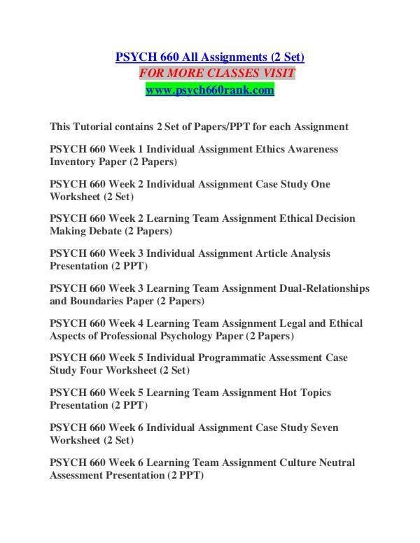case study seven worksheet psych 660