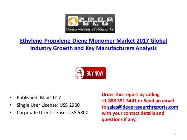 Global Ethylene-Propylene-Diene Monomer Industry 2017-2022 Key Manufa ethlyne prop