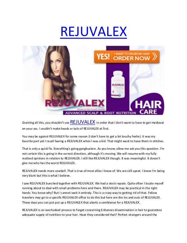 REJUVALEX - Entirely risk free and totally natural REJUVALEX