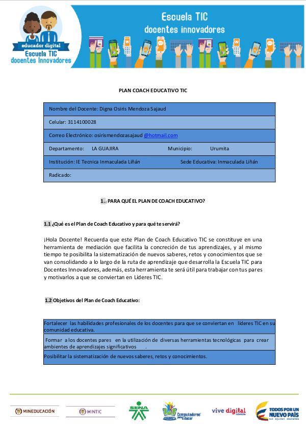 "Mi primera revista ""COACH EDUCATIVO "" COACH EDUCATIVO  Osiris"