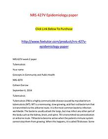 NRS 427V Epidemiology paper