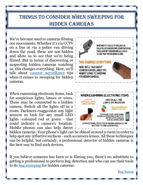 Things To Consider When Sweeping For Hidden Cameras Things To Consider When Sweeping For Hidden Camera