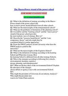 THE MACRO-POWER STRAND OF THE POWER SCHOOL/ TUTORIALOUTLET DOT COM