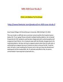 NRS 410 Case Study 2
