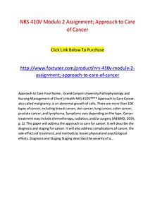 NRS 410V Module 2 Approach to Care of Cancer (2)