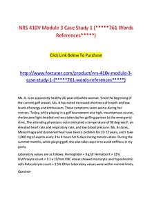 NRS 410V Module 3 Case Study 1 (761 Words References)