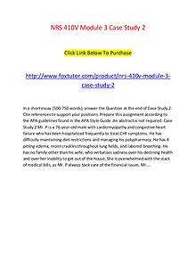 NRS 410V Module 3 Case Study 2