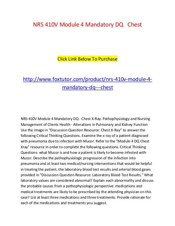 NRS 410V Module 4 Mandatory DQ   Chest NRS 410V Module 4 Mandatory DQ   Chest