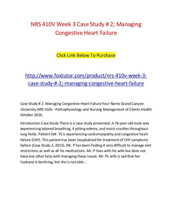 NRS 410V Week 3 Case Study # 2