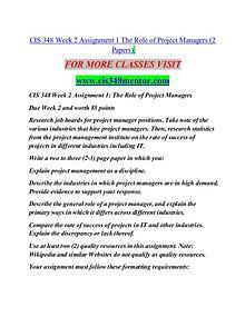CIS 348 MENTOR Great Stories/cis348mentor.com