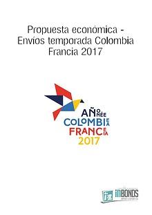 Propuesta económica envíos temporada Colombia - Francia