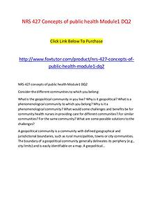 NRS 427 Concepts of public health Module1 DQ2