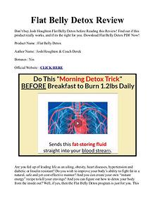 Flat Belly Detox Formula PDF / eBook by Josh Houghton