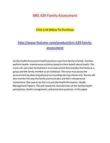 NRS 429 Family Assessment