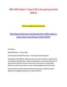 NRS 429V Week 1 Topic 1 DQ 1 Using the health belief model, how can n