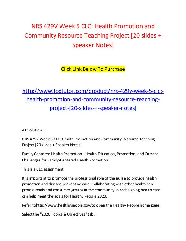 health promotion project topics