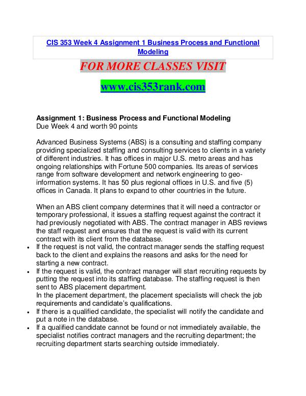CIS 353 RANK  Great Stories/cis353rank.com CIS 353 RANK  Great Stories/cis353rank.com