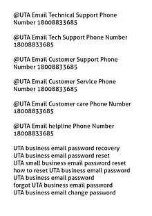UTA Email customer Service 18008833685 Technical support Recovery