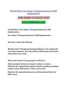 CIS 446 STUDY Great Stories/cis 446study.com