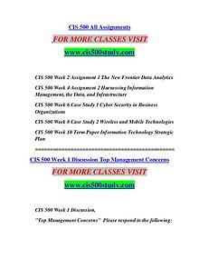 CIS 500 STUDY Great Stories/cis500study.com