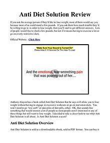 Anti Diet Solution Book / PDF Free Download