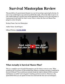 Survival Masterplan PDF / eBook By Scott Rogers Free Download