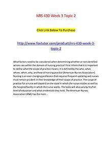 NRS 430 Week 3 Topic 2