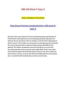 NRS 430 Week 4 Topic 2