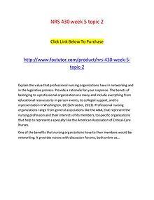 NRS 430 week 5 topic 2