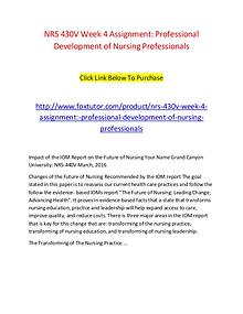 NRS 430V Week 4 Assignment Professional Development of Nursing Profes
