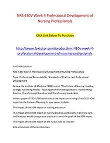 NRS 430V Week 4 Professional Development of Nursing Professionals