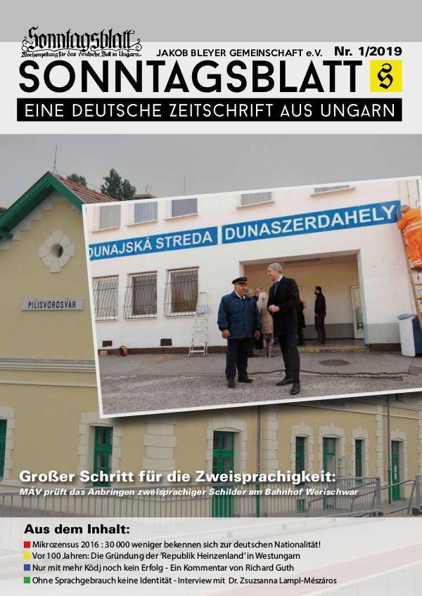Sonntagsblatt 1/2019