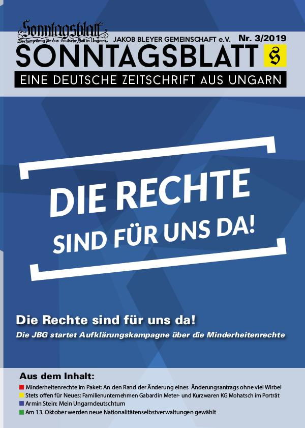 Sonntagsblatt 3/2019