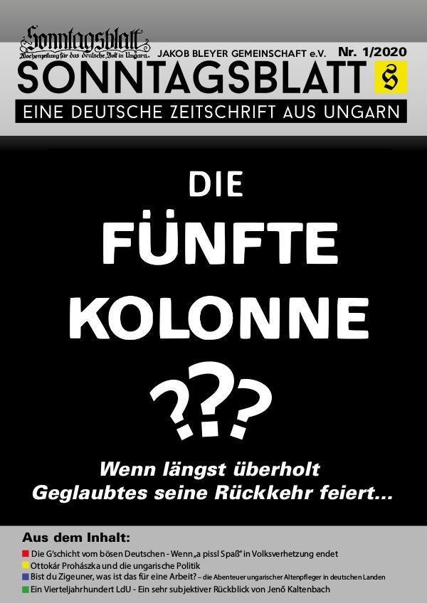 Sonntagsblatt 1/2020