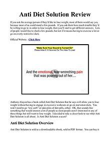 Anti Diet Solution PDF / Book Free Download
