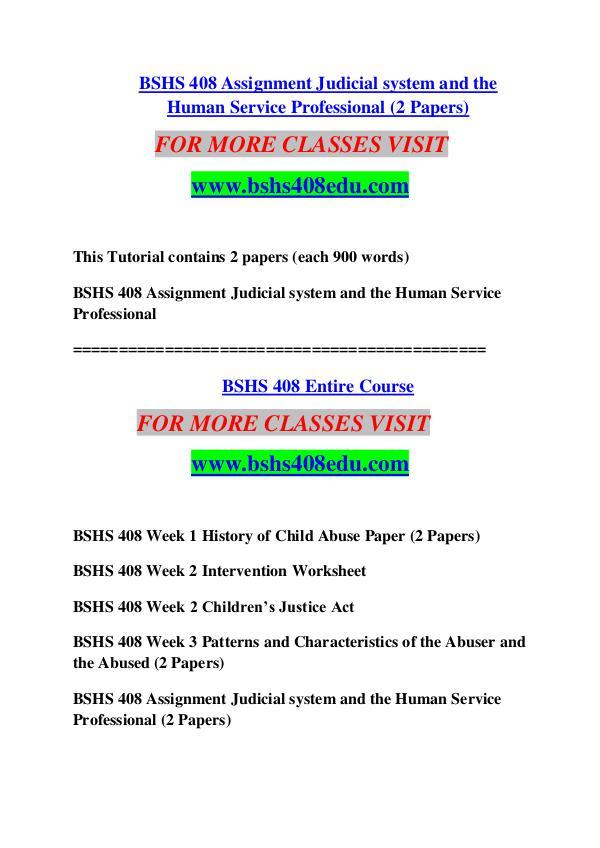 BSHS 408 EDU Keep Learning /bshs408edu.com BSHS 408 EDU Keep Learning /bshs408edu.com