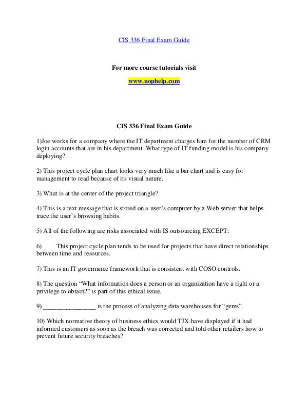 CIS 336 STR help Making Decisions/uophelp.com CIS 336 STR help Making Decisions/uophelp.com