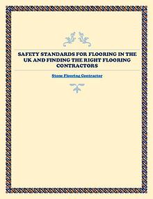 Safety Standards For Flooring In The UK And Finding The Right Floorin