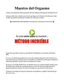 Descargar Maestro Del Orgasmo de Rafael Cruz PDF / eBook