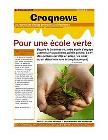 Croqnews n°3 - 2e trimestre 2018