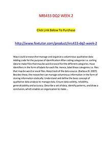 NRS433 DQ2 WEEK 2