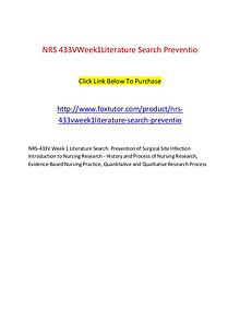 NRS 433V Week1Literature Search Preventio