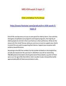 NRS 434 week 5 topic 2