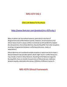 NRS 437V All Assignments