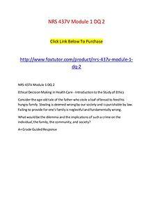 NRS 437V Module 1 DQ 2