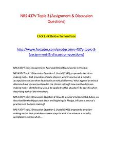 NRS 437V Topic 3 (Assignment & Discussion Questions)